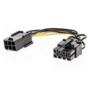 PCI-E:  6PIN (F) TO 8PIN (M)