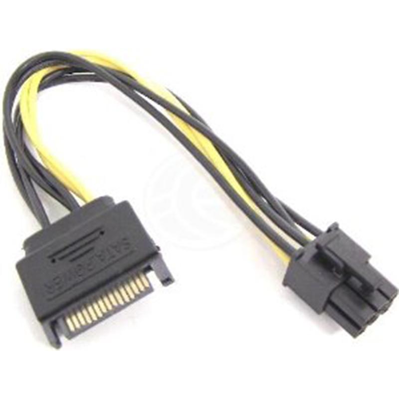 SATA (M) TO PCI-E 6P (M) 0.2M