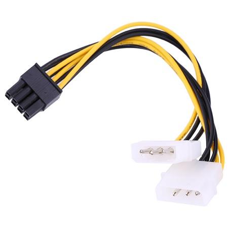 MOLEX (M) X2 TO PCI-E 8P (M) 0.2M