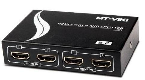 2 IN 2 OUT HDMI SWITCH/SPLITTER