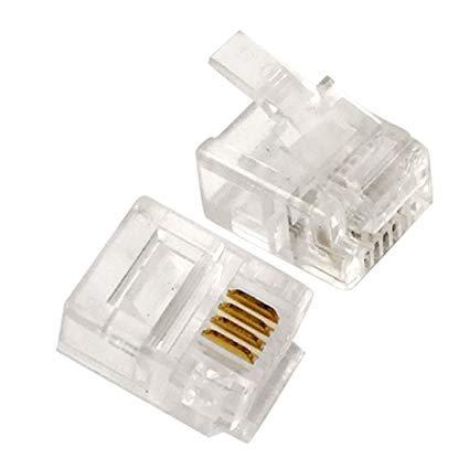 CON: RJ11 CONNECT. 25PCS
