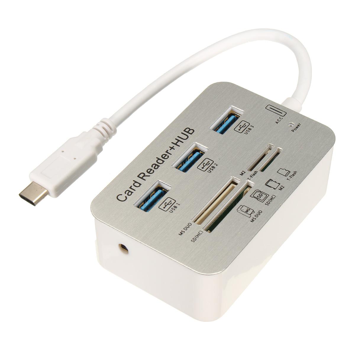 HUB: USB-C - 3P + READER