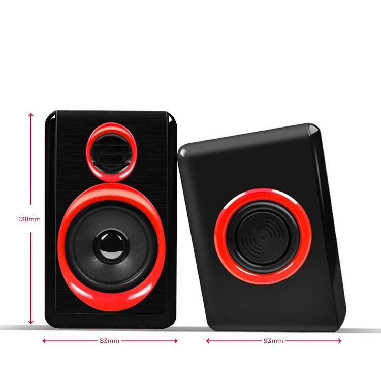 USB SPK: 2.0 BK & RED